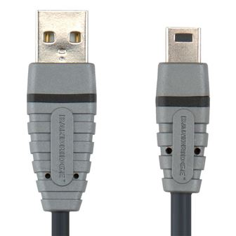 Bandridge  USB 2.0 A konektor - Mini USB 5 pin, 2m