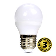 Solight LED žiarovka, miniglobe, 6W, E27, 4000K, 450lm