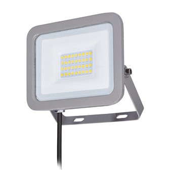 Solight LED reflektor Home, 30W, 2250lm, 4000K, IP65, sivý