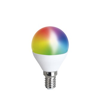 Solight LED SMART WIFI žiarovka, miniglobe, 5W, E14, RGB, 400lm